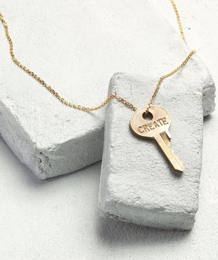 Dainty Key Necklace Necklaces The Giving Keys CREATE Dainty Gold