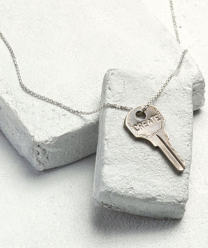 Create Dainty Silver Key Necklace Necklaces The Giving Keys CREATE Dainty Silver