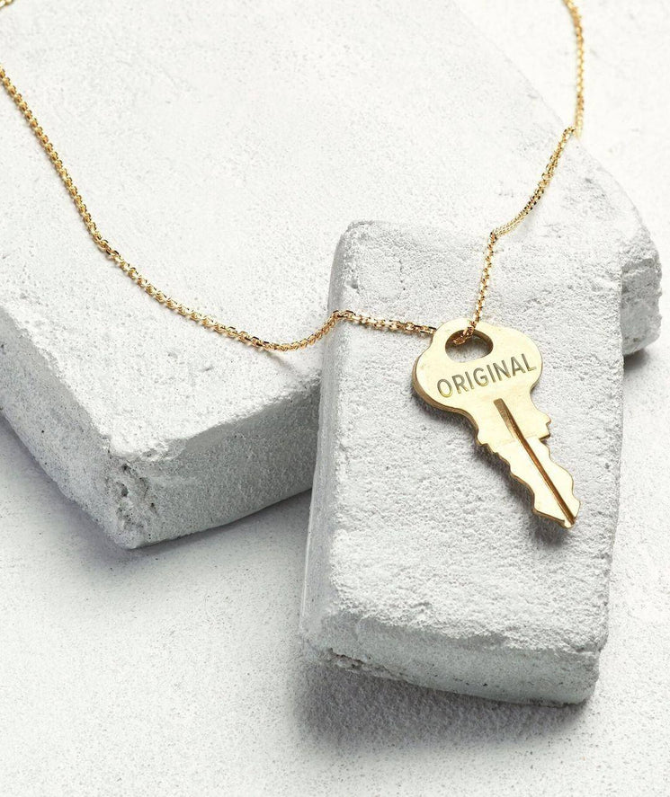 LIVE ORIGINAL Gold Dainty Key Necklaces The Giving Keys Gold