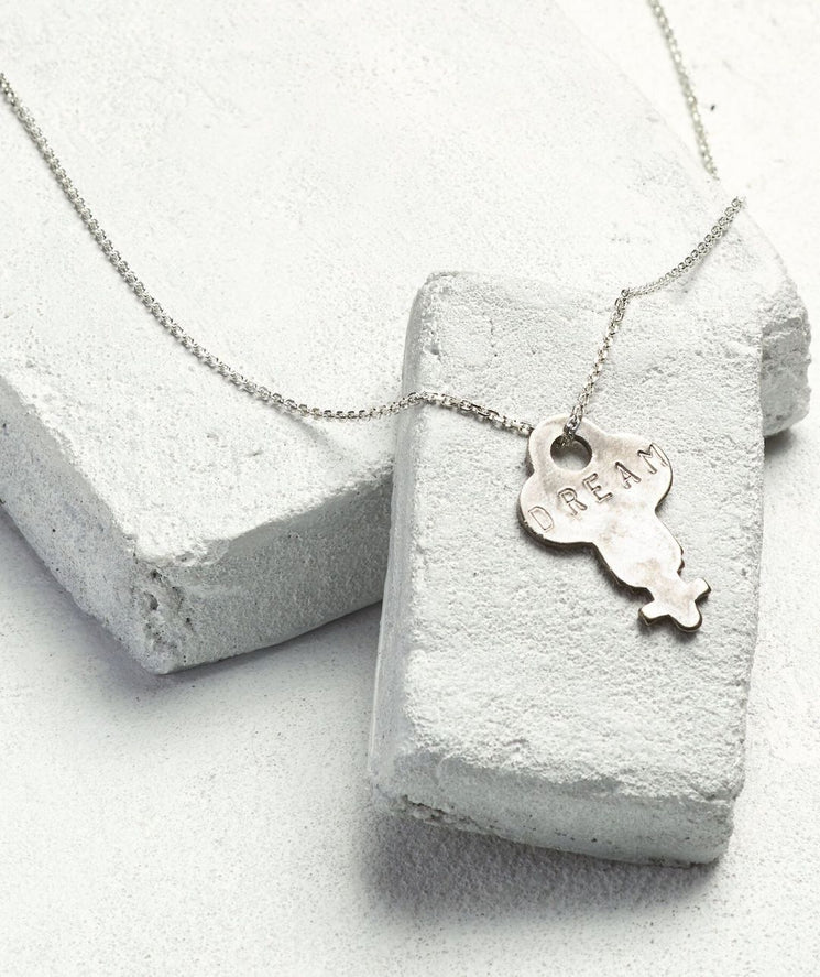 Dainty Key Necklace Necklaces The Giving Keys DREAM Dainty Silver