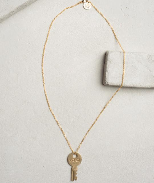 Travel Dainty Key Necklace Necklaces The Giving Keys CUSTOM Dainty Gold