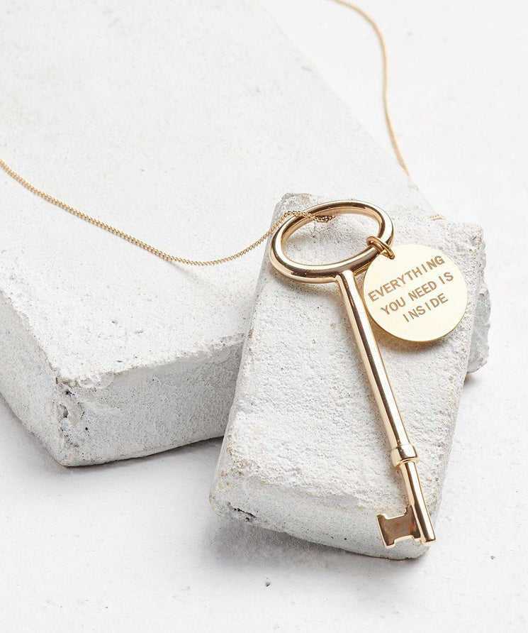 Everything You Need Is Inside Key Pendant Necklace Necklaces The Giving Keys Word Assigned By Color Gold