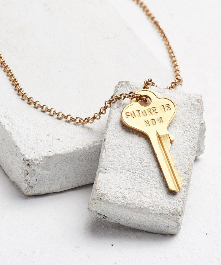 FUTURE IS... Gold Classic Key Necklace Necklaces The Giving Keys NOW GOLD