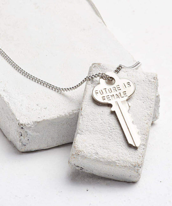 FUTURE IS... Silver Classic Key Necklace Necklaces The Giving Keys FEMALE SILVER