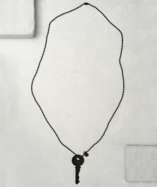 Matte Black Key Necklace - WITH CUSTOM HIDDEN Necklaces The Giving Keys CUSTOM Matte Black
