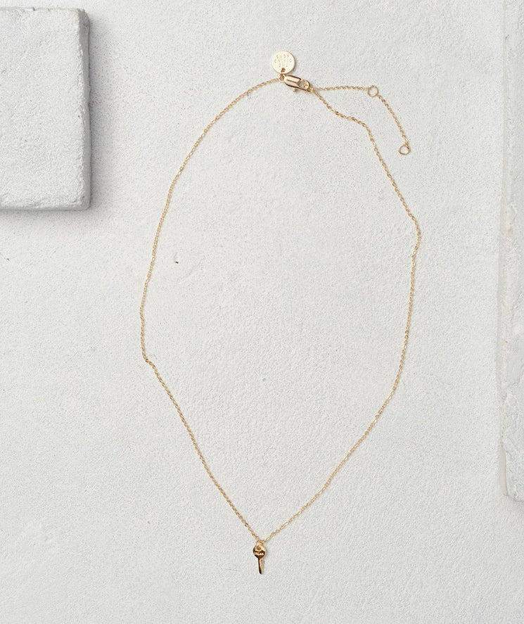 Mini Key Necklace Necklaces The Giving Keys DREAM Gold | Lifestyle