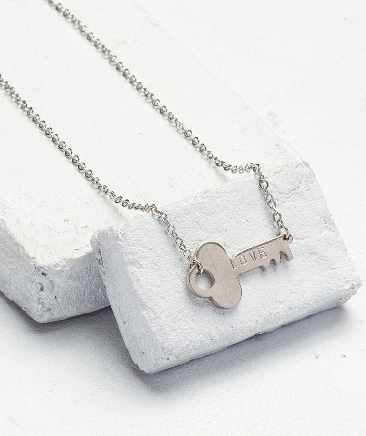 Never Ending Key Choker Necklaces The Giving Keys LOVE Silver