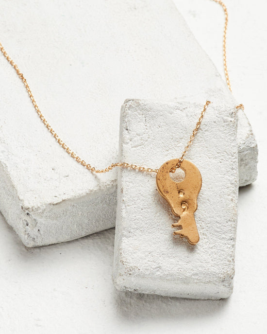 Semicolon Dainty Key Necklace Necklaces The Giving Keys SEMICOLON Dainty Gold