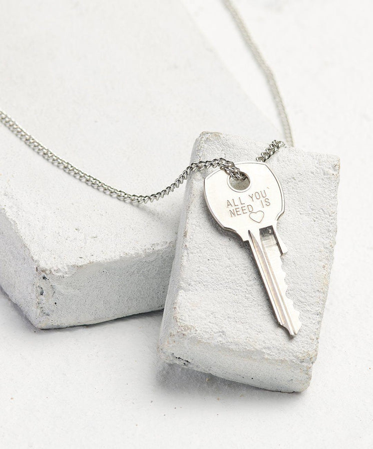 Statement Classic Key Necklace Necklaces The Giving Keys All You Need Is... Silver