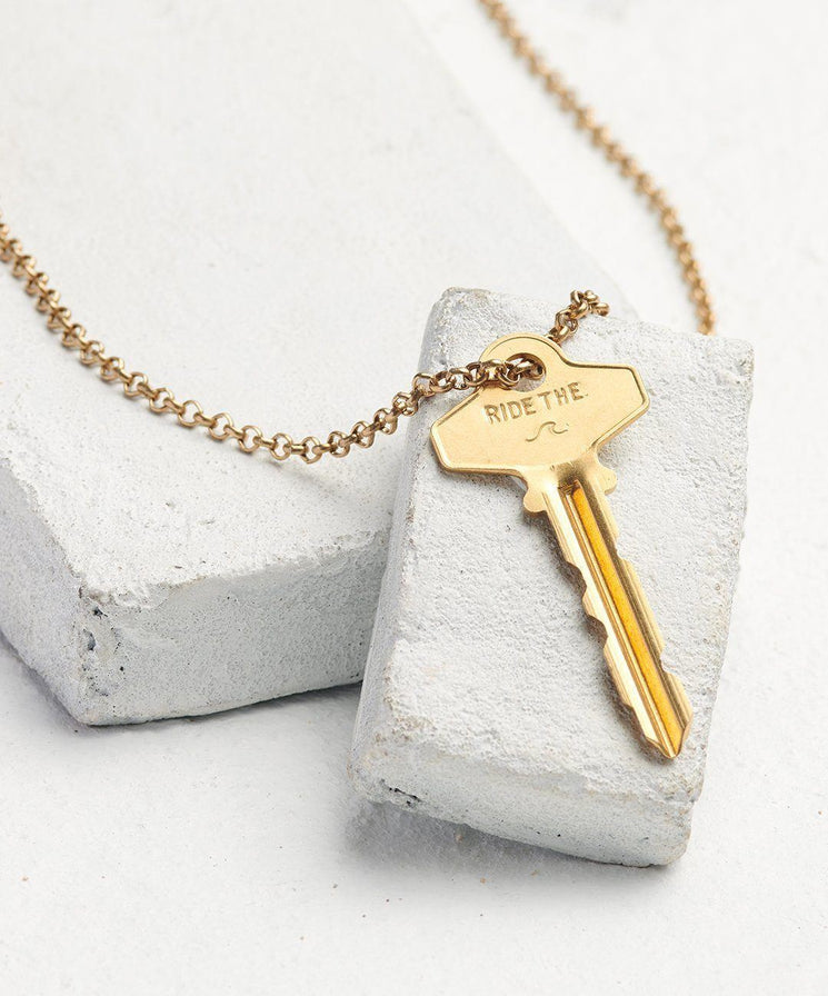 Statement Classic Key Necklace Necklaces The Giving Keys Ride The... Antique Gold