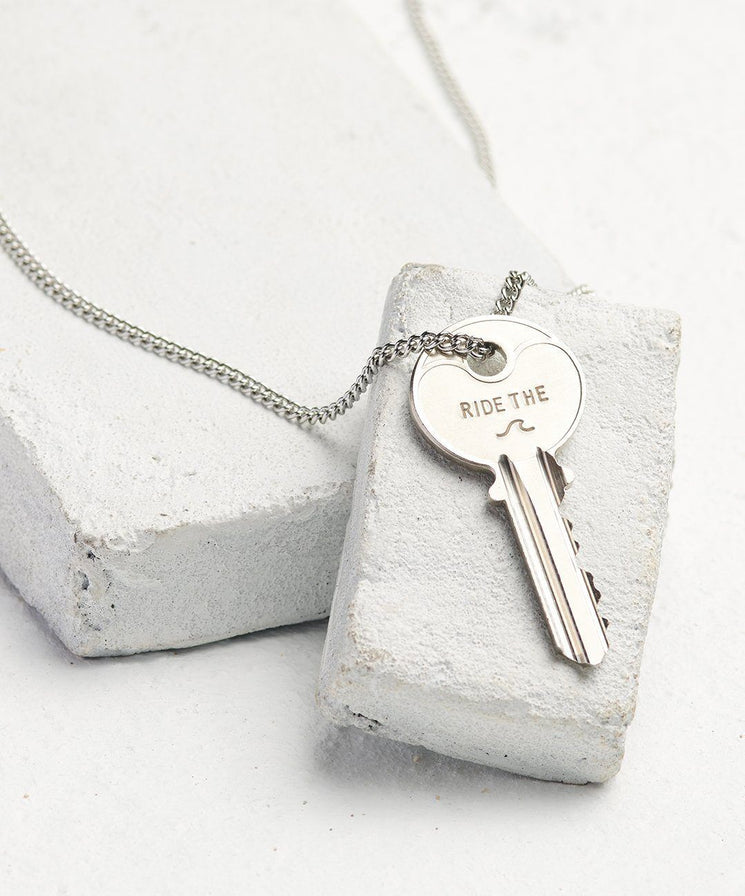 Statement Classic Key Necklace Necklaces The Giving Keys Ride The... Silver