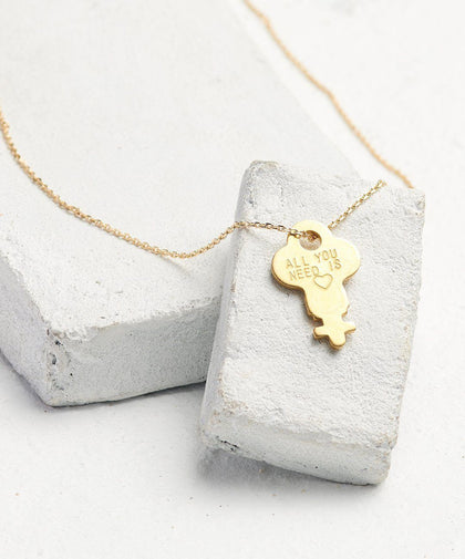 Statement Dainty Key Necklace Necklaces The Giving Keys All You Need Is... Dainty Gold