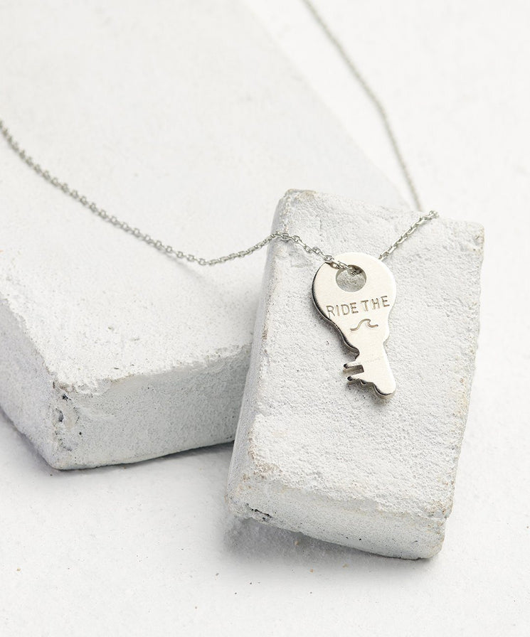 Statement Dainty Key Necklace Necklaces The Giving Keys Ride The... Dainty Silver