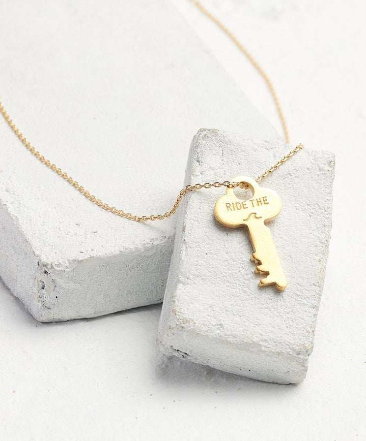 Statement Dainty Key Necklace Necklaces The Giving Keys Ride The... Dainty Gold