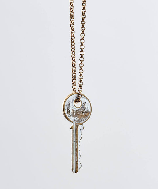 White Patina Classic Key Necklace Necklaces The Giving Keys Dream WHITE