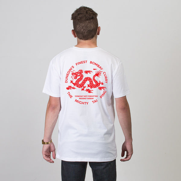 Tai Ping Short Sleeve T-shirt - White/Red