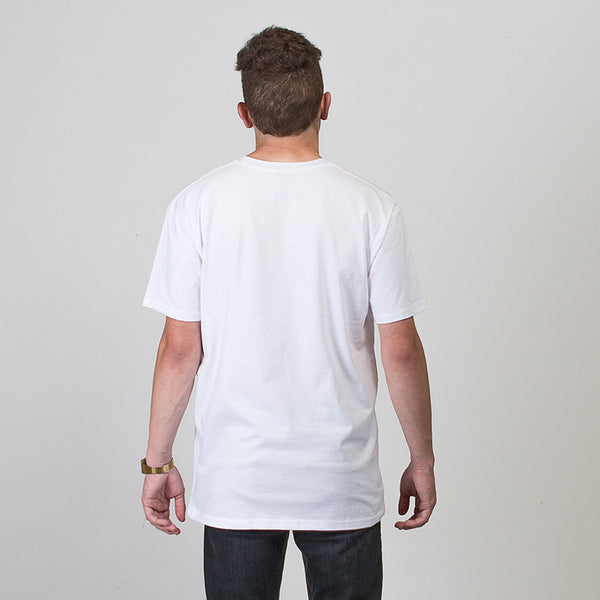 St Clair Short Sleeve T-shirt - White/Pink/Dark Green