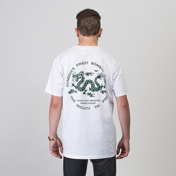 Tai Ping Short Sleeve T-shirt - White/Dark Green