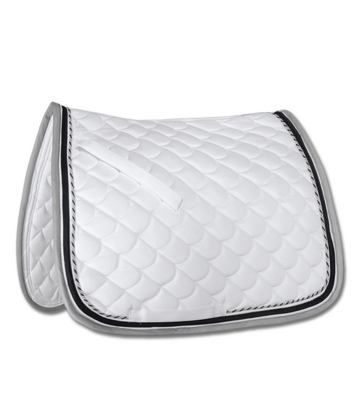 SADDLE PAD DRESSAGE ROM WHITE GREY