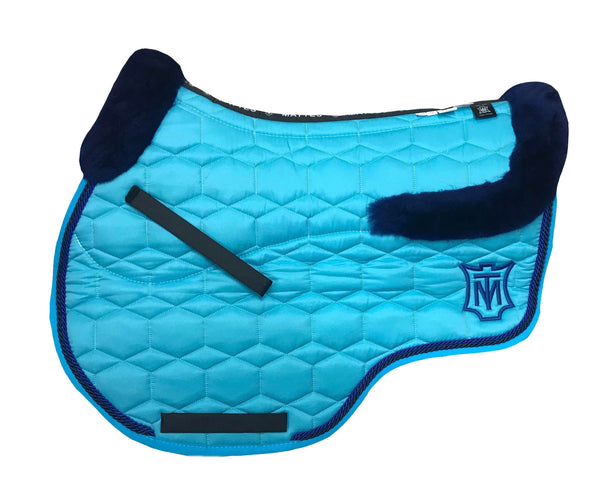 EA Mattes Turquoise Showjumping Pad Euro - Sheepskin Top & Bottom