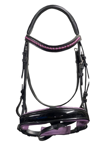 Purple Snaffle Bridle