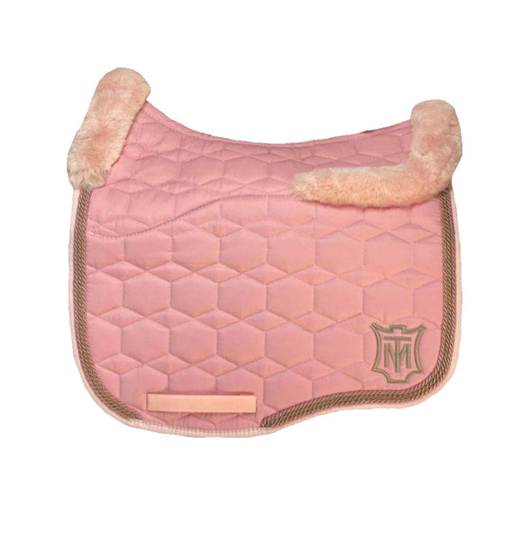 EA Mattes Blush Pink Dressage Euro - Full Sheepskin