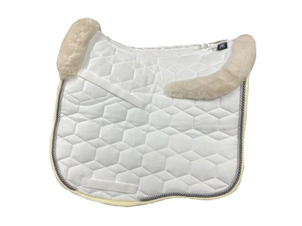 EA Mattes White Velvet Dressage Euro - Sheepskin Top & Bottom