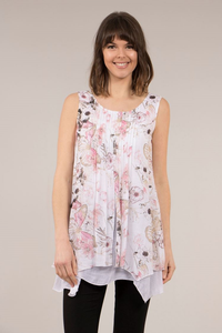 Double Layer Flower Tunic