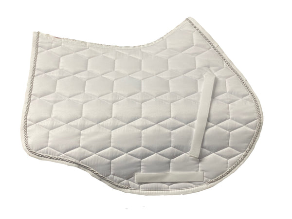 Mattes White Sheen Showjumping Pad (small)