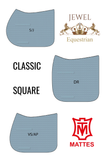 CUSTOM VELVET SADDLE PAD FROM