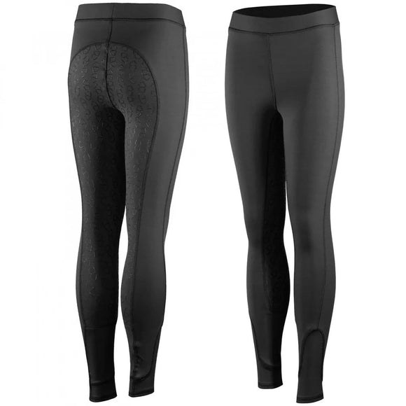 Black - Silicon Full Seat Pull On Breeches