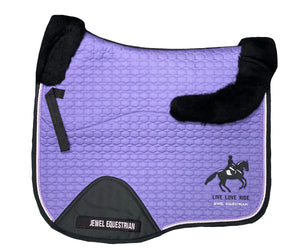 Purple Dressage Saddle Cloth with Wool