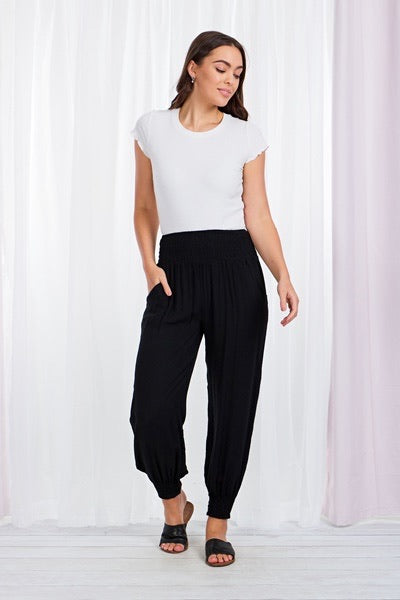 Black or Navy - HAREM PANTS