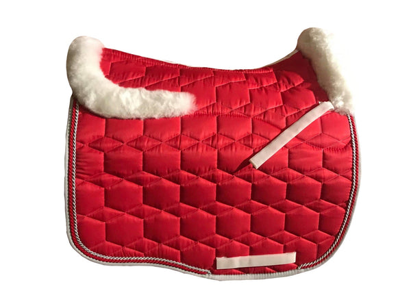 EA Mattes Cherry Dressage Euro - Sheepskin Top & Bottom
