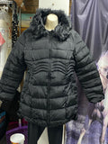 Black Jacket With Removable Fur