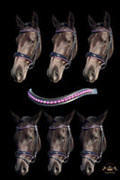 Convertible Purple Snaffle Bridle
