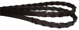 Laced Brown Leather Reins