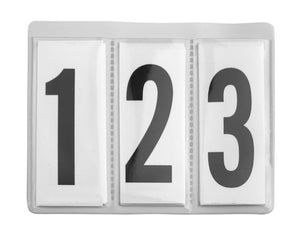 Spare Interchangeable Number Insert for Leather Number Holders (Pair)