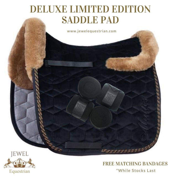 Deluxe Limited Edition L - Black Classic (Square) Full Sheepskin Pad