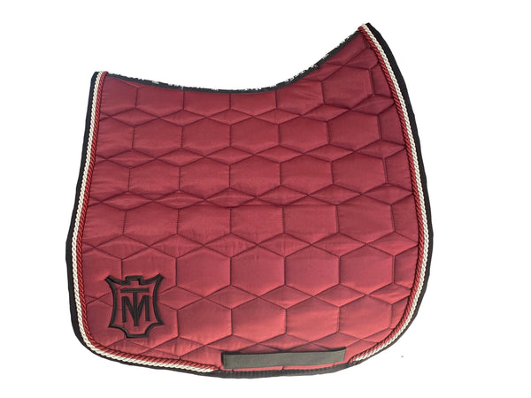 Mattes Burgundy Sheen Dressage Pad (small)