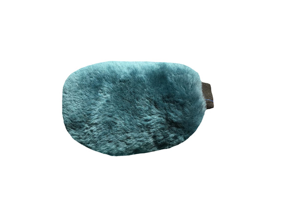 MATTES® Sheepskin Grooming Mitt - Teal Sheepskin