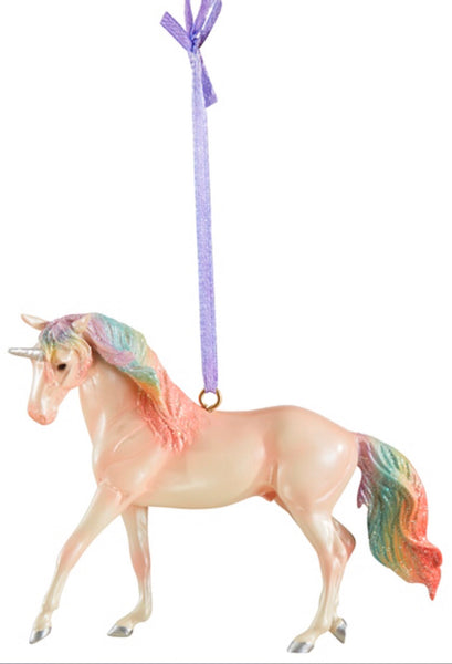 BREYER STABLEMATES MAJESTY UNICORN - 2019 STIRRUP ORNAMENT