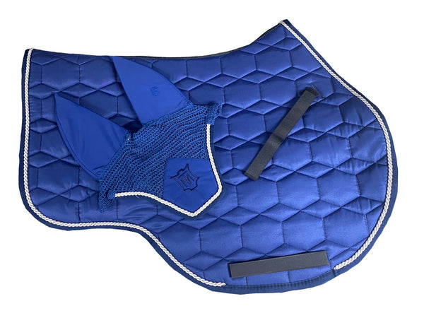 Mattes Blue Sheen Showjumping Pad