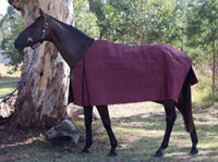 High Plains Unlined Burgundy Bogong Rug (Australian Made)