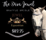 The Diva Jewel Snaffle Bridle