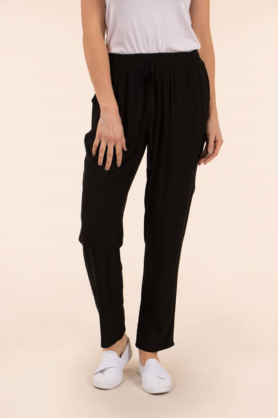 Long Shirred Waist Pant