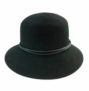 Ladies Black - 100% Wool Hat