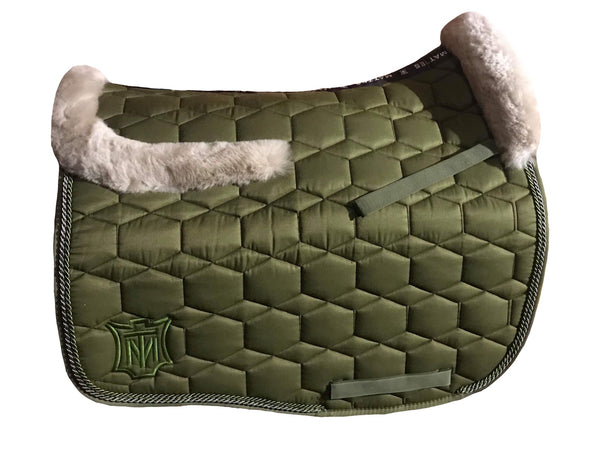 EA Mattes Olive Dressage Euro - Sheepskin Top Only