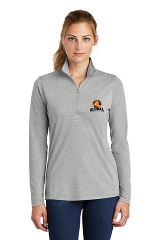Sport-Tek PosiCharge Tri-Blend Wicking 1/4-Zip Pullover (Ladies)