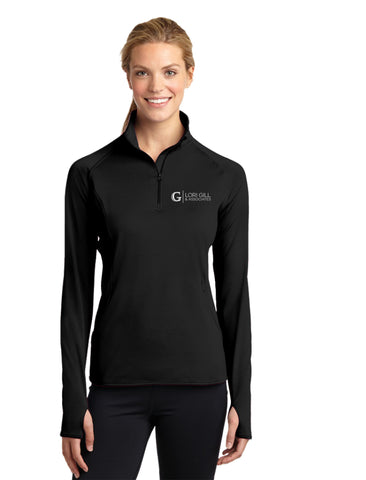 Ladies Sport-Tek Sport-Wick Stretch 1/4-Zip Pullover